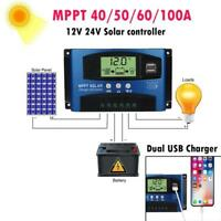 40/50/60/100A MPPT Solar Panel Regulator Charge Controller 12V/24V Auto Focus Tr