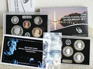 2019 S US Mint ANNUAL SILVER 11 Coin Proof Set with Box COA + W Reverse Penny