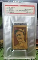 1926 W512 Ty Cobb #3 Hand Cut PSA Authentic
