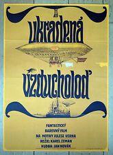 Original Czech Polish film poster Stolen Airship Karel Zeman A1 Rare '67 Ziegler