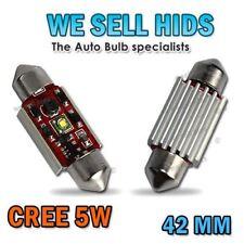 2x 42 mm C10W 264 CREE 5 W LED CAN BUS OBC errore lampadine libero all'interno Interni BMW