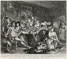 Hogarth Print Reproduction: A Rake's Progress: Tavern Scene, #3: Fine Art Print