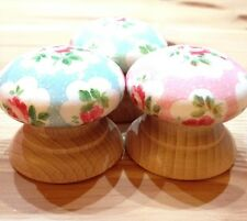 Shabby Chic Pomello in legno con Cath Kidston verde rosa o blu Provenza Rosa di carta