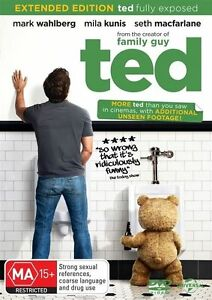 Ted (DVD, 2012) Mark Wahlberg r4