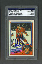 Chris Chelios signed Montreal Canadiens 1984 Opee Chee Rookie Card Psa