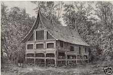 Antique print house Kota Baroe Sumatra VOC Indonesië