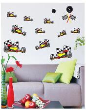 Car Racing Karting Wall Art  Deco Kids Decal Home Mural Paper Sticker Adhesive
