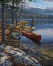Autumn Solitude Canoe Lake  Print by Darrell Bush  13 x 9