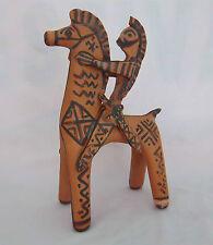 Horse Figurine Rare GREECE Pottery WARRIOR Rider Statue Artist SIGNED 900 BC
