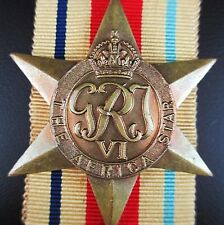 GENUINE WW2 AUSTRALIAN BRITISH AFRICA CAMPAIGN  MEDAL ORDER FIGHTING GERMANS