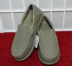 Crocs Santa Cruz II  Slip On Khaki/Cobblestone Size J6 New With Box