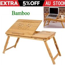 Portable Folding Laptop PC Desk Lap Bed Tray Dinner Notebooks Bamboo Table Shelf