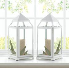 "8 wholesale lot 12"" Malta White Candle Lantern holder wedding table centerpiece"
