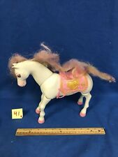Barbie Walking Moving Horse Princess Pink Works Great! RARE!!