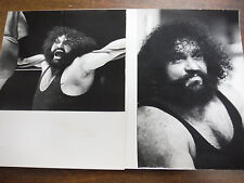 Pampero Firpo lot of 2 vintage Wrestling Wire Photos 1973