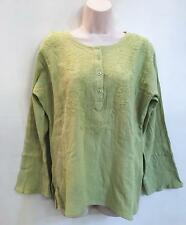 Hippie Bohemian Gypsy Festival India Embroidered Funky Kurta Top S Lime 44