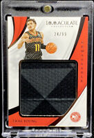 Trae Young 2018-19 Panini Immaculate Rookie RC Remarkable Jersey 24/99 SP