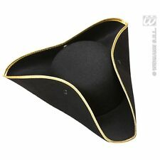 Tricorn Felt Hat Pirate Ship Adventurer Explorer Fancy Dress Costume Accessory