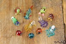 Handmade Glass Little Animals Ladybird Octopus Turtle Frog Owl Mallard Painted