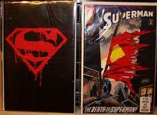 Superman #75 Black Bagged, Newstand & 2nd print set DC Comics Doomsday Death of