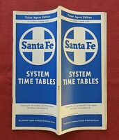 1958 AT & SF ATCHISON TOPEKA SANTA FE RAILROAD TIME TABLE TICKET AGENT EDITION