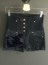 High Waisted Denim Customised shorts uk8