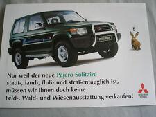 Mitsubishi Pajero Solitaire brochure Mar 1996 German text