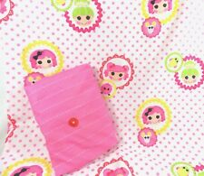Lalaloopsy Sew Cute Girls Crib Toddler Bed Fitted & Flat Sheet Set Multicolor