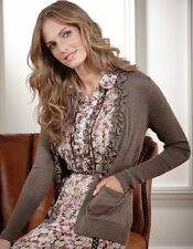 Bravissimo Ruffle Neck Cardigan by Pepperberry in Black or  Mocha Colour (30)