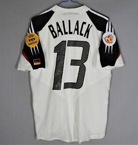 GERMANY DEUTSCHLAND 2004 2005 SHIRT JERSEY PLAYER ISSUE ADIDAS #13 BALLACK