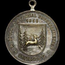 SCHÜTZEN: Medaille 1896. XI. BUNDESSCHIESSEN ORTELSBURG / OSTPREUSSEN ⇒ SZCZYTNO