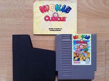 KICKLE CUBICLE + Manual FR/NL. Nintendo NES (Sega,Atari,Nintendo) VGC/TBE !