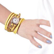 Damen Madchen PU Lederarmbanduhr Armbanduhr Quarzuhr Analogur Kette Anhanger