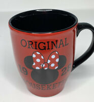 Disney Store Minnie Mouse Ears Original 1928 Mouseketeer Coffee Mug Cup Red