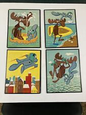 Lot of 4 Bullwinkle and Rocky Frame-Tray Puzzles vintage