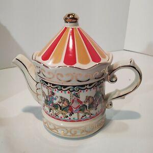 Sadler Vintage Carousel Teapot