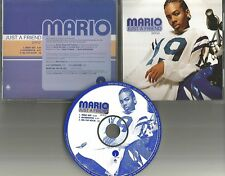 MARIO Just a Friend w/ EDIT & INSTRUMENTAL PROMO DJ CD Single BIZ MARKIE Remake