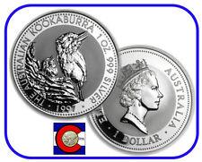 1997 Australia Kookaburra 1 oz. Silver Coin - BU direct from Perth Mint roll