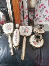 More details for  vintage regent of london petit  point  vanity/dressing table set + candlesticks