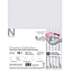Scrapbook Paper translucent Vellum Premium Paper 15 Sheets