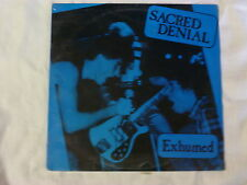 SACRED DENIAL exhumed LP orig BLUE WAX (?) private label 1988 new SEALED
