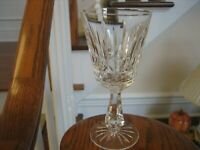 "WATERFORD CUT CRYSTAL SIGNED 1 PC ROSSLARE 6"" CLARET WINE GLASSES"