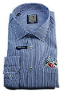 Seidensticker Casual Hemd Schwarze Rose blau weiß Gestreift Gr. 40 / 440840.13