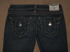 True Religion Size 28 Billy Boot Dark Blue Stretch Denim Womens Jean Flap Pocket