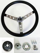 "Ford Mercury Falcon Thunderbird Galaxie GRANT Steering Wheel Black 15"" Cobra Cap"