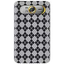 AMZER LUXE ARGYLE HIGH GLOSS TPU SOFT GEL SKIN CASE FOR HTC HD7 - CLEAR