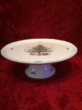 Nikko Christmastime Classic Collection Christmas Holiday Pedestal Cake Plate