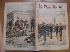 1897 LE PETIT JOURNAL 351 DRAPEAU DES DOUANIERS CHIENS CHASSE BICYCLETTE SOLDATS