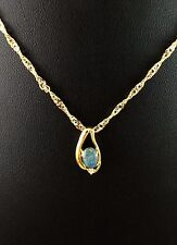 Triplet Opal Necklace Pendant w Cubic Zurconia and Cert 18k Gold Plated w Chain