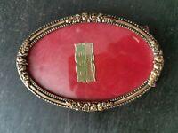 antica cornicetta da tavolo in ottone